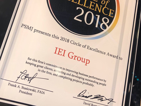 IEI Selected to PSMJ's 2018 Circle of Excellence