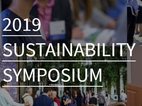 Paul Thompson presenting at 2019 Sustainability Symposium on 5/3