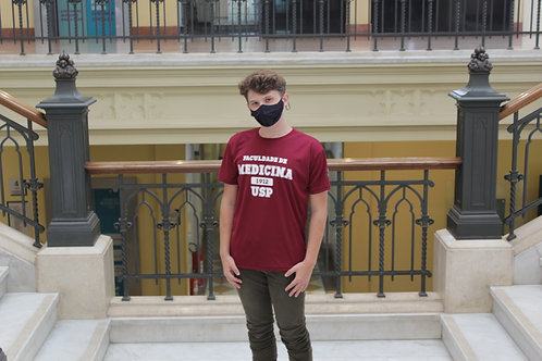 Camiseta Medicina USP Bordô (Poliéster)