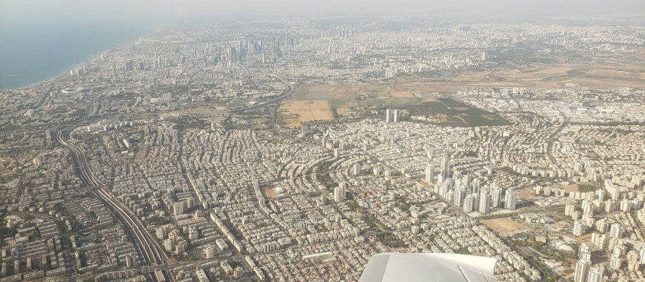 Flying in TLV during a Gaza strip conflict can be interesting.