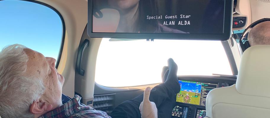 Cruising at 31,000ft watching Netflix