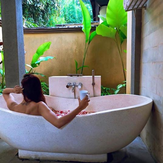 Open Bath, Ubud, bali