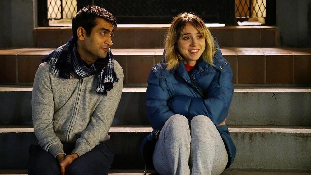 "Kumail Nanjiani and Zoe Kazan in ""The Big Sick"""