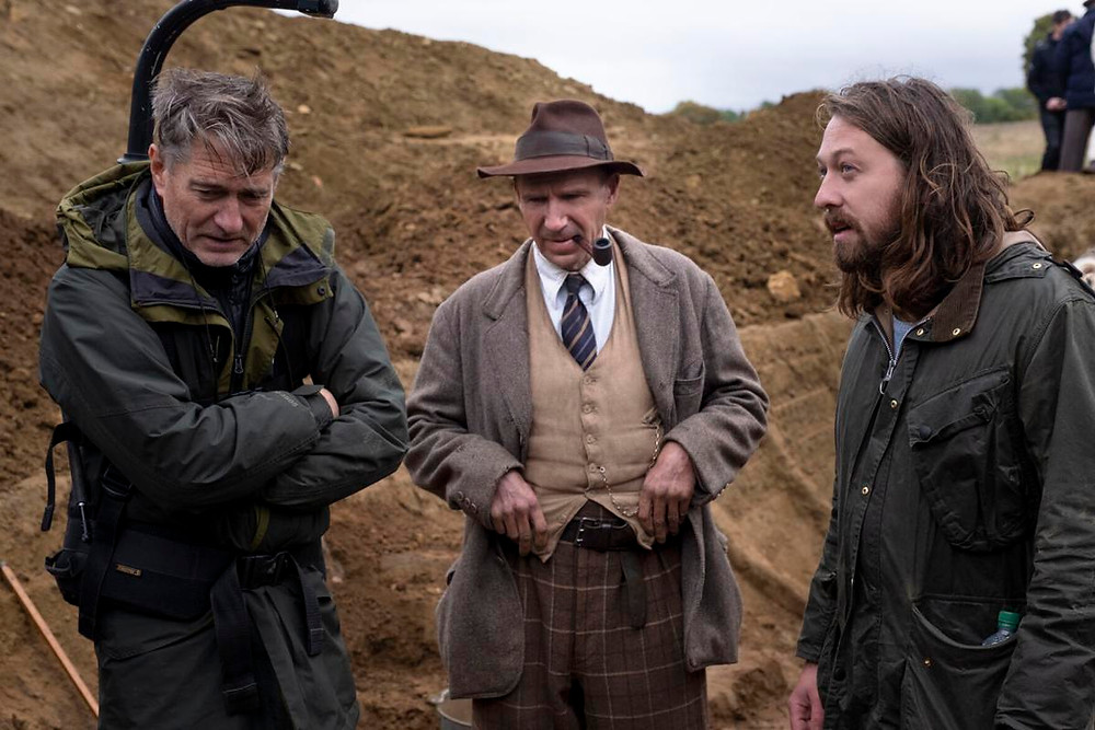 Mike Eley, Ralph Fiennes and Simon Stone