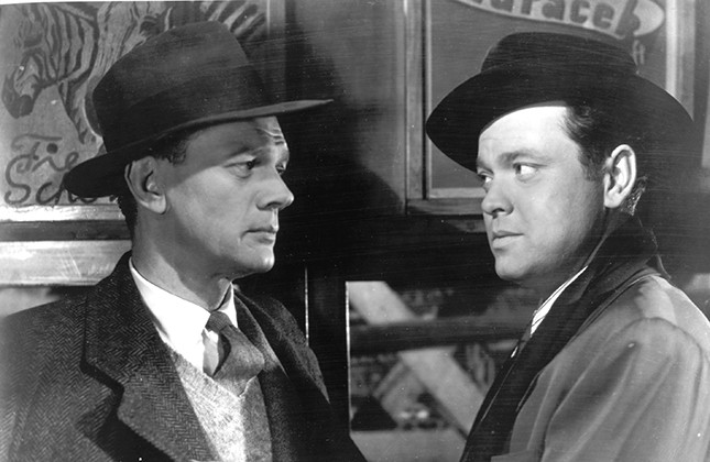 """Joseph Cotton and Orson Wells in """"The Third Man"""""""