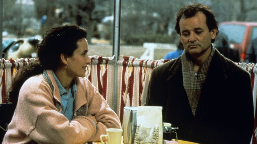 Andie MacDowell and Bill Murray in Groundhog Day