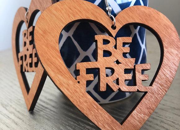 be free heart earrings