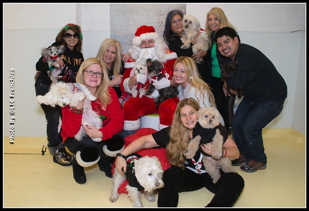 My squad and Santa