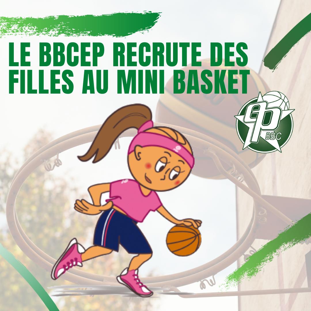 Le BBCEP recrute des filles au mini basket
