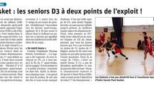 Les Seniors proches de l'exploit en Coupe d'Isère!