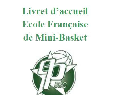 Le livret d'accueil de l'école de mini-basket