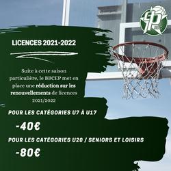 Renouvellements de  licences 2021/2022