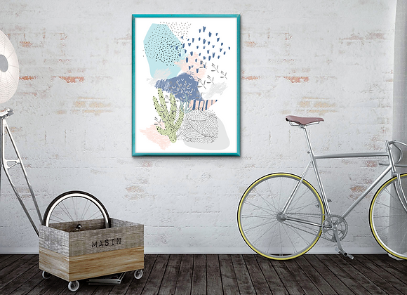 Geometric Garden Digital Print