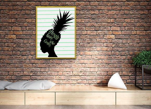 Pineapple Hair Digital Print