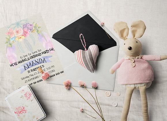 Floral Dreamcatcher Digital Invitation