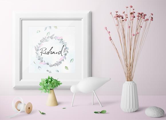 Watercolour Wreath Digital Print