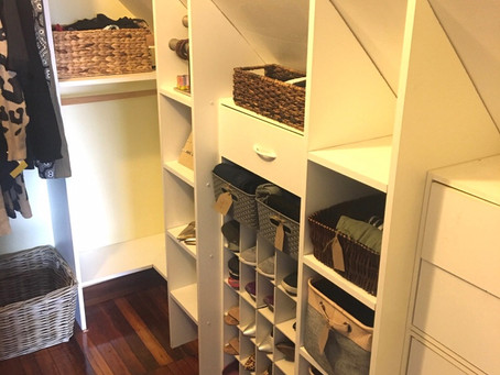 Newly Organized Roslindale Walk-in Closet | Before & After Series