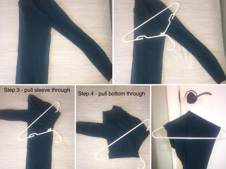 Easy sweater hanging diagram