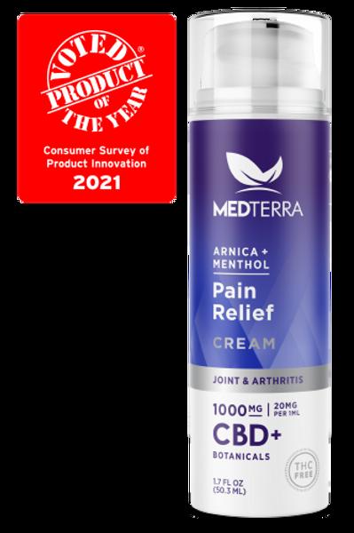 Medterra  Arnica & Menthol Pain Cream, Joint & Arthritis 1000mg