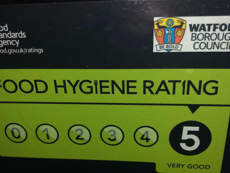 FOOD HYGIENE RATING = 5