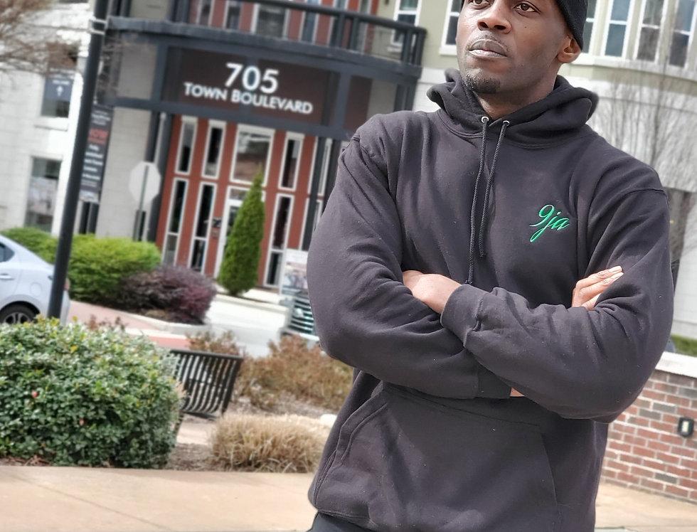 Black hoodie green 9ja