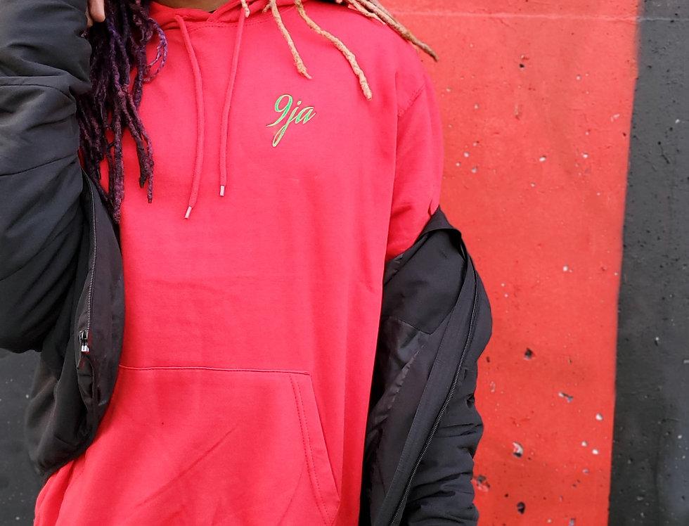 Red hoodie green 9ja