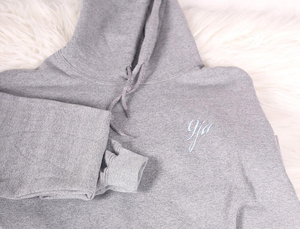 Grey hoodie blue 9ja