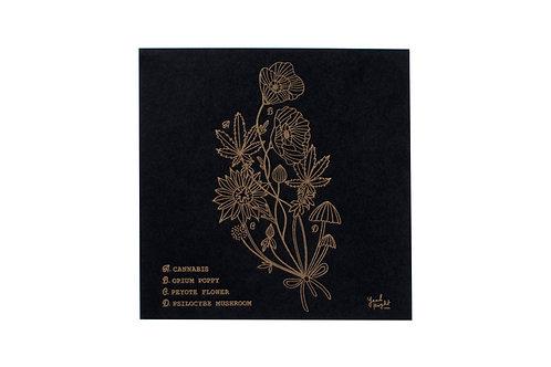 Psychoactive Plants Letterpress Print