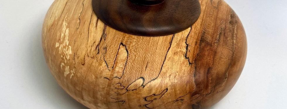 Spalted Maple w Black Walnut lid