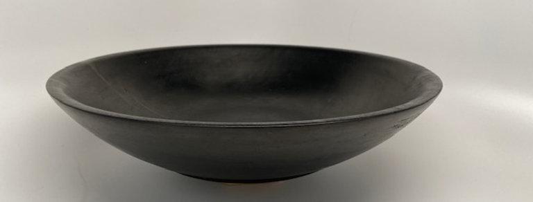 Rock Hard Maple salad bowl, ebonized with India Ink