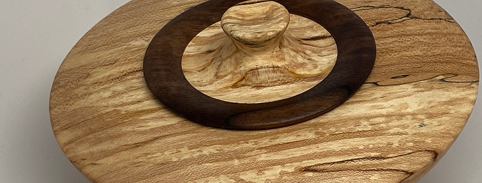 Spalted Maple w Black Walnut lid 2