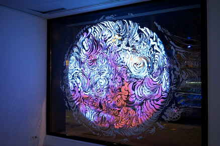 UNTITLED / Charley Case & Kika Nicolela / video projection on drawing / 2017