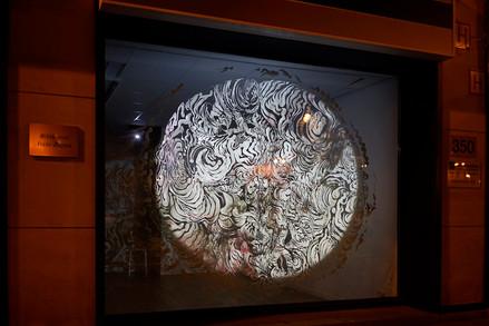UNTITLED / Charley Case & Kika Nicolela / video projection on drawing