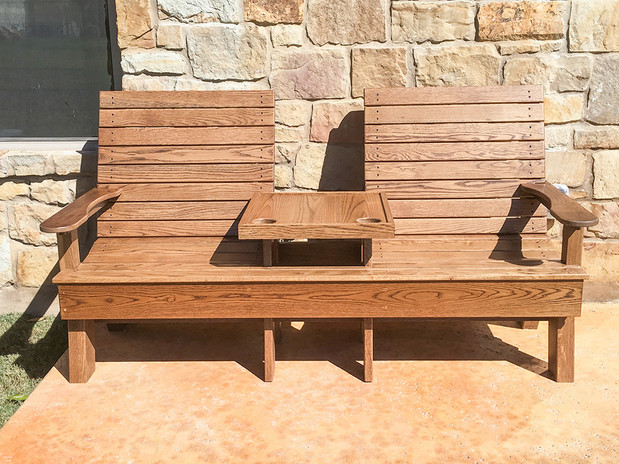 Patio Bench Table