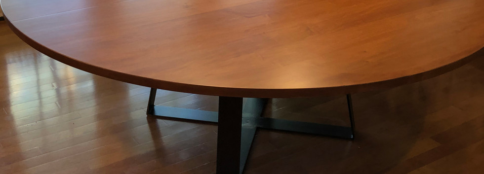 Round Maple Dining Table