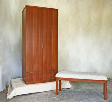 Contemporary Armoire and Bench