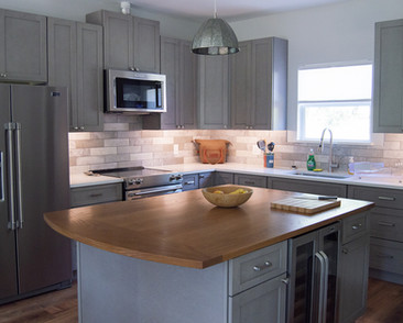 White Oak Island Countertop