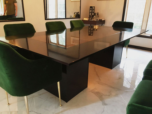 Contemporary Glass Dining Table