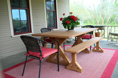 Trestle Patio Table & Bench