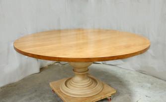Maple Round Pedestal Table