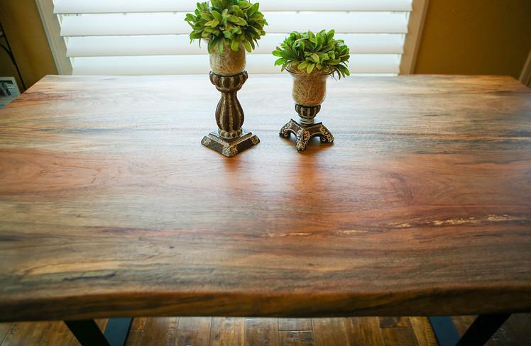 Live Edge Pecan Table & Bench