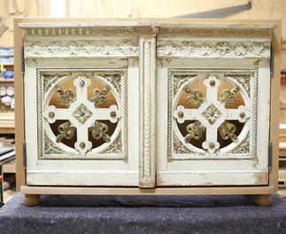Ornate Cabinet with Antique Doors