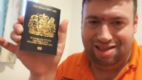 Daniel Hall with New UK Passport