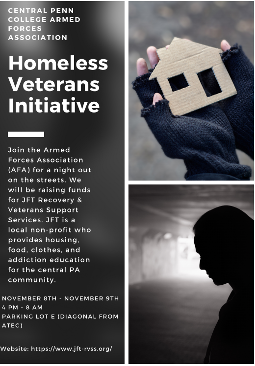 Central Penn College Raising Money for Our Vets: Join Them for a Night on the Streets