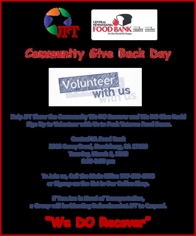 Please Help JFT Give Back