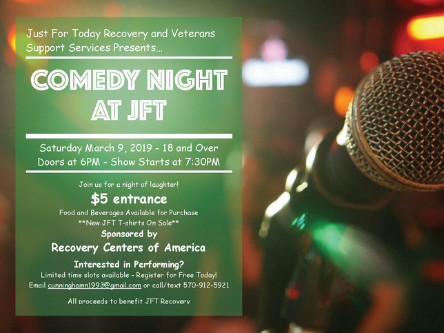 Open Mic Night & New JFT T-shirts Available