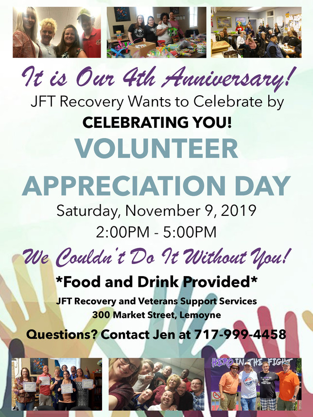 Let JFT Thank You: Join Us for Food and Fun