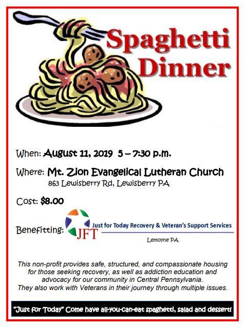Spaghetti Dinner to Benefit JFT
