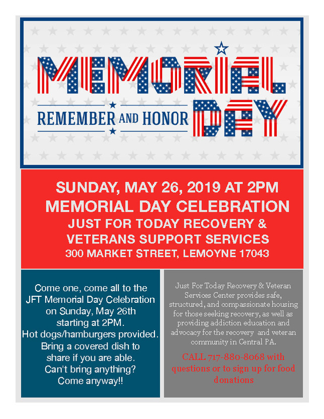 Memorial Day Cookout at JFT