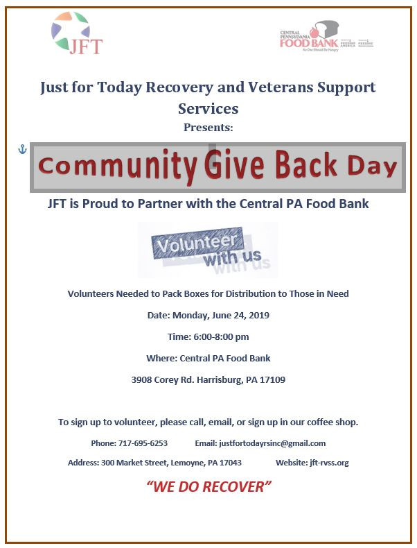 Join Us So the Community Knows We Do Recover and We Do Give Back